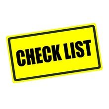 Check List Back Stamp Text On Yellow Background