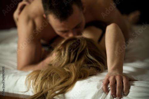 Obraz na plátne Erotic couple making love