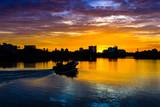 Colourful sunset from Diyawanna Lake Sri Lanka