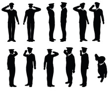 Army General Silhouette With H...