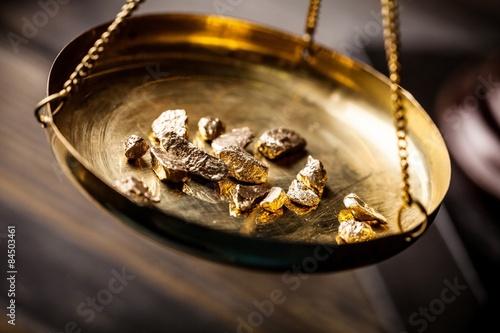 Fotografia, Obraz  Gold, rush, nugget.