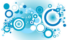 Blue Retro Circles