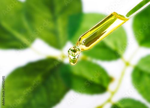 Fotografía  Organic essence. Essential oil Skin care,alternative medicine.