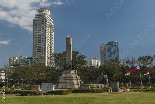 Skyline of Central Manila seen from Rizal Park