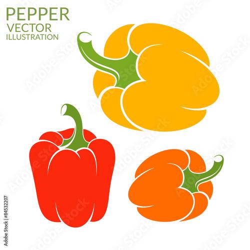 Canvas Print Bell Pepper