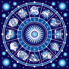 Fototapeta Kosmos Horoscope circle