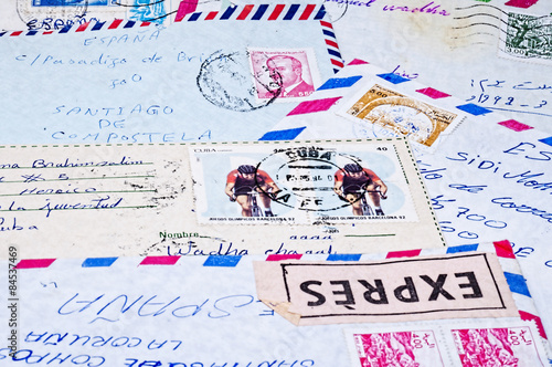 old letters and stamps
