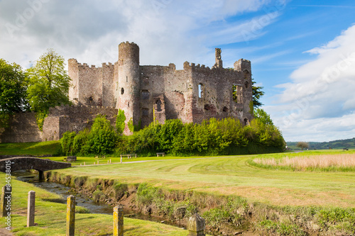 In de dag Kasteel Laugharne Castle Wales