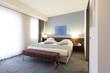 Interior of a modern hotel bedroom