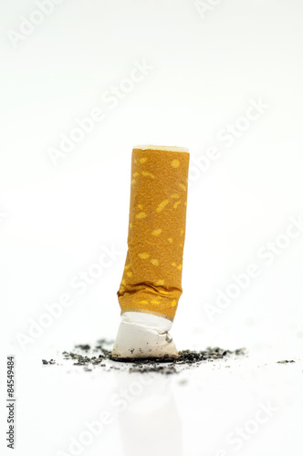 Fotografija  Stop smoking, cigarette butt isolated on white