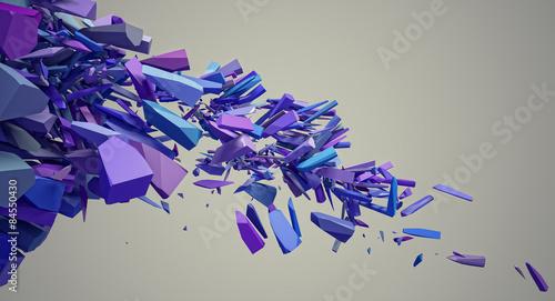 obraz lub plakat Eksplozja fioletowy