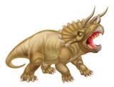 Fototapeta Dinusie - Triceratops Dinosaur Illustration