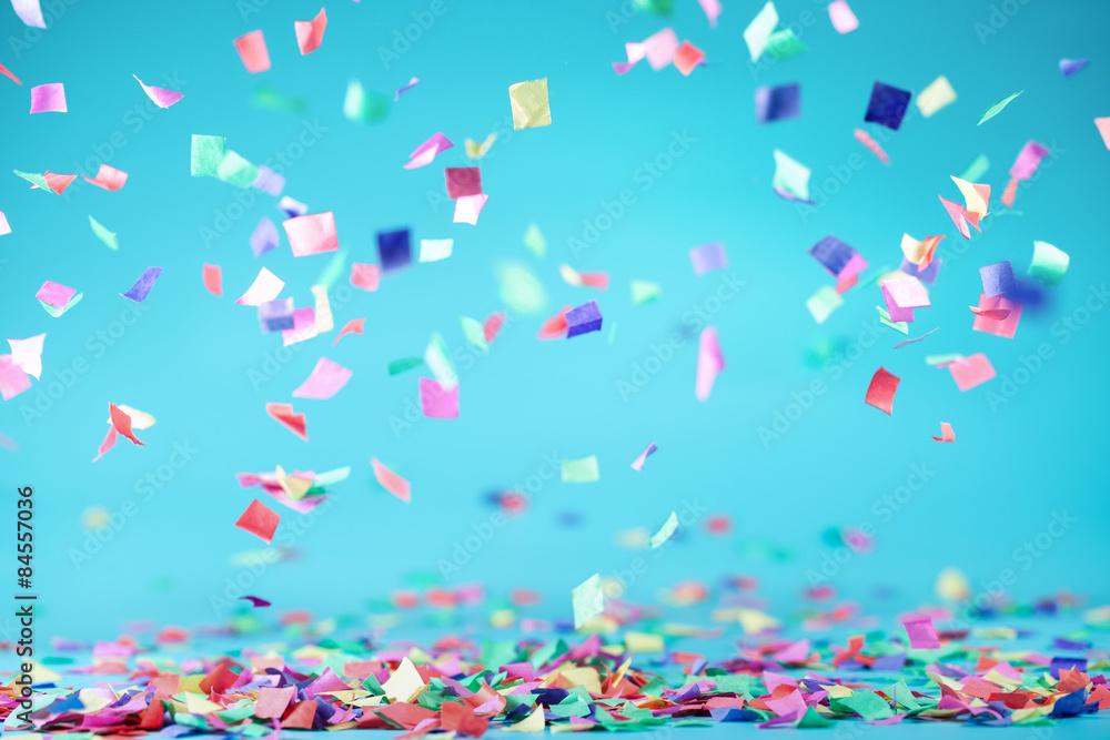 Fototapeta Colored confetti - obraz na płótnie