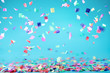 canvas print picture - Colored confetti