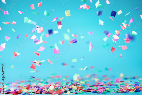 Tuinposter Carnaval Colored confetti
