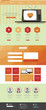 Vintage website template- one page,