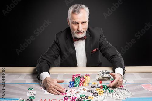 Concept for poker game and gambling плакат