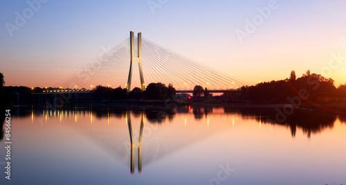 Poster Bridges Wrocław most o zachodzie słońca