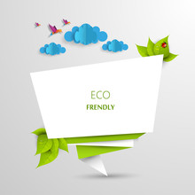 Green Eco Abstract Design,