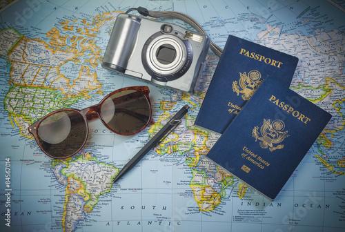 Papiers peints Amérique du Sud Passports to world travel