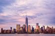 New York City Manhattan skyline over Hudson River viewed from Ne