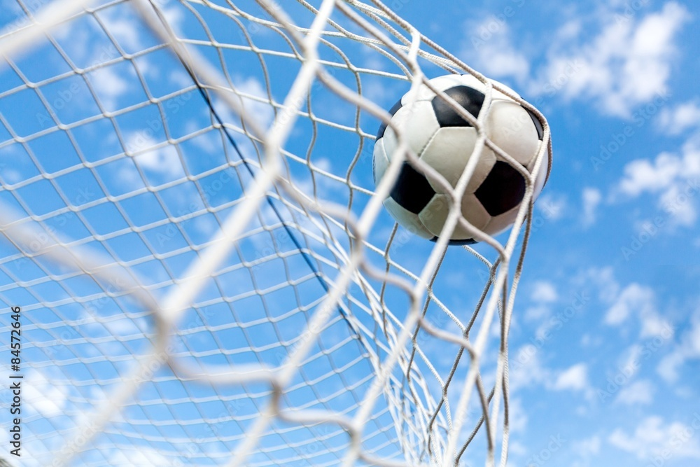 Fototapeta Soccer, Goal, Soccer Ball.
