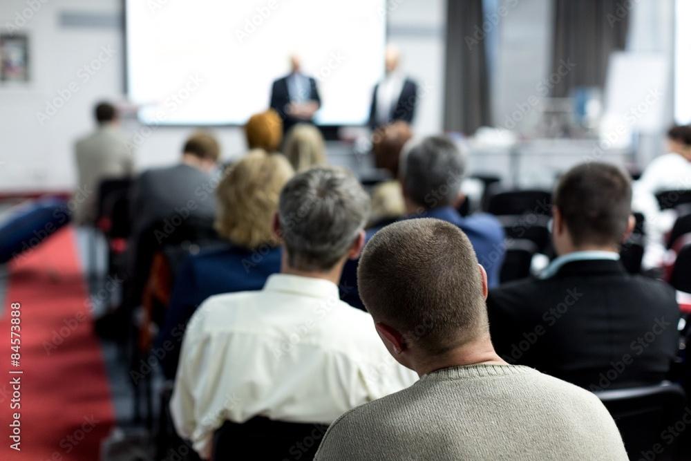 Fototapeta Seminar, Classroom, Adult.