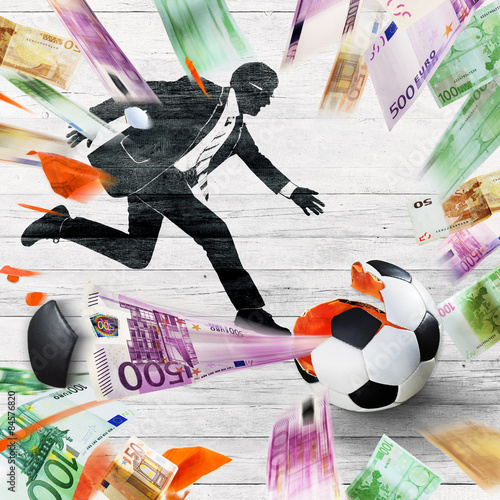 Fotografie, Tablou  Soccer corruption