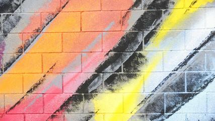 Panel Szklany Graffiti Graffiti en un muro de una calle de Barcelona