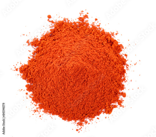 Pile of red paprika powder Fototapet