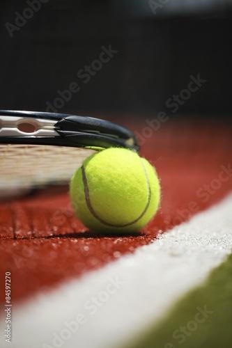 Tennis, Court, Tennis Ball. Tableau sur Toile