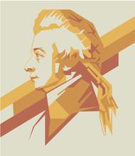 Wolfgang Amadeus Mozart Vector Portrait