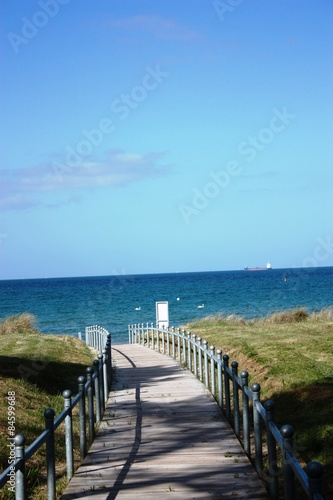Cadres-photo bureau La Mer du Nord Way to a coastal Landscape - View to Beach of Binz Baltic Sea
