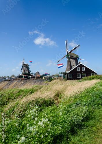 Spoed Foto op Canvas Molens Zaanse Schans, The Netherlands.