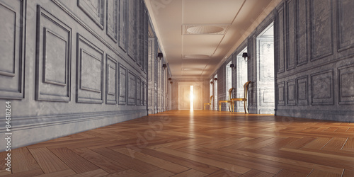 Obraz  luxury corridor. 3d design concept - fototapety do salonu