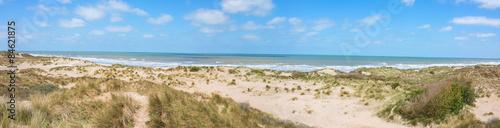 Spoed Foto op Canvas Noordzee Nordseestrand in Westflandern Belgien
