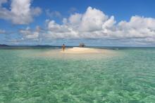 Woman Deserted Dream Island St Vincent Et Les Grenadines Caribbean