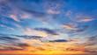 Leinwanddruck Bild - Sunset sky over the sea