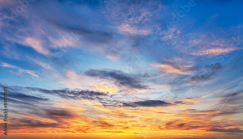 Fototapeta Sunset sky over the sea obraz