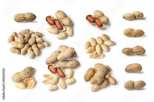 Photo Set of Peanut isolated