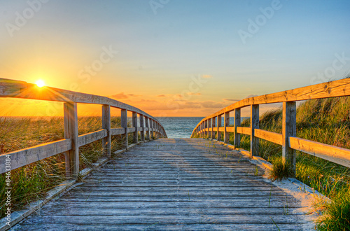 Foto-Schiebegardine Komplettsystem - Strand