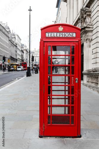 Fotografie, Obraz  Londýn, telefonní automat