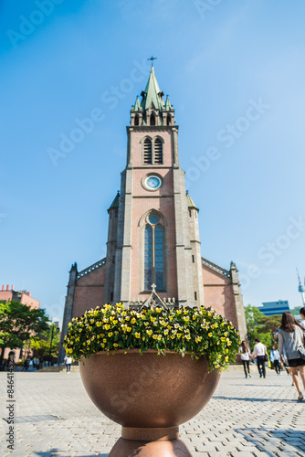 Myeong dong Catholic Cathedral in Seoul South Korea Poster