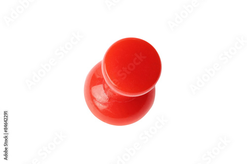 Fotografia, Obraz  Isolated red drawing pin top view