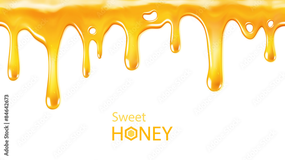 Fototapety, obrazy: Dripping honey seamlessly repeatable