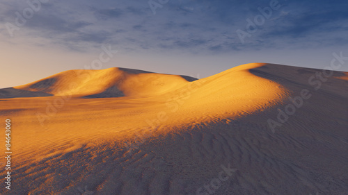 Photo sur Toile Desert de sable Sandy dunes at evening time