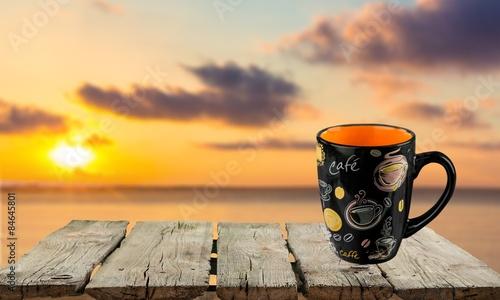 Photo Stands Coast Mug, Coffee Cup, Black.