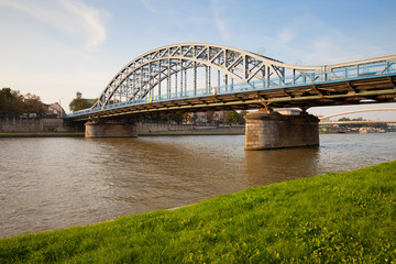 FototapetaPilsudski Bridge on Vistula River in Krakow