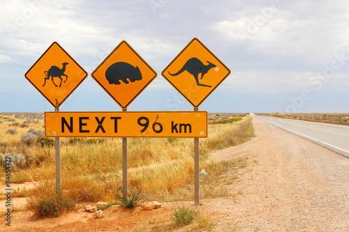 Poster Oceanië Australian road signs