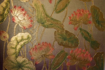 Panel Szklany Orientalny Gold leaf painting